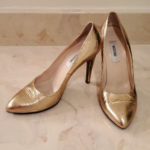 Authentic Moschino Metallic Gold Heels